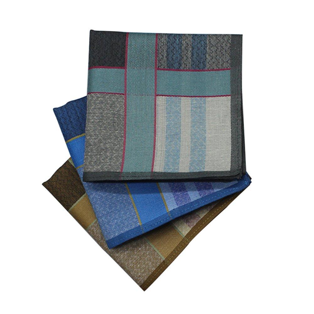 WINDLY Premium Men's Handkerchiefs Hankies 100% Cotton - 6pcs