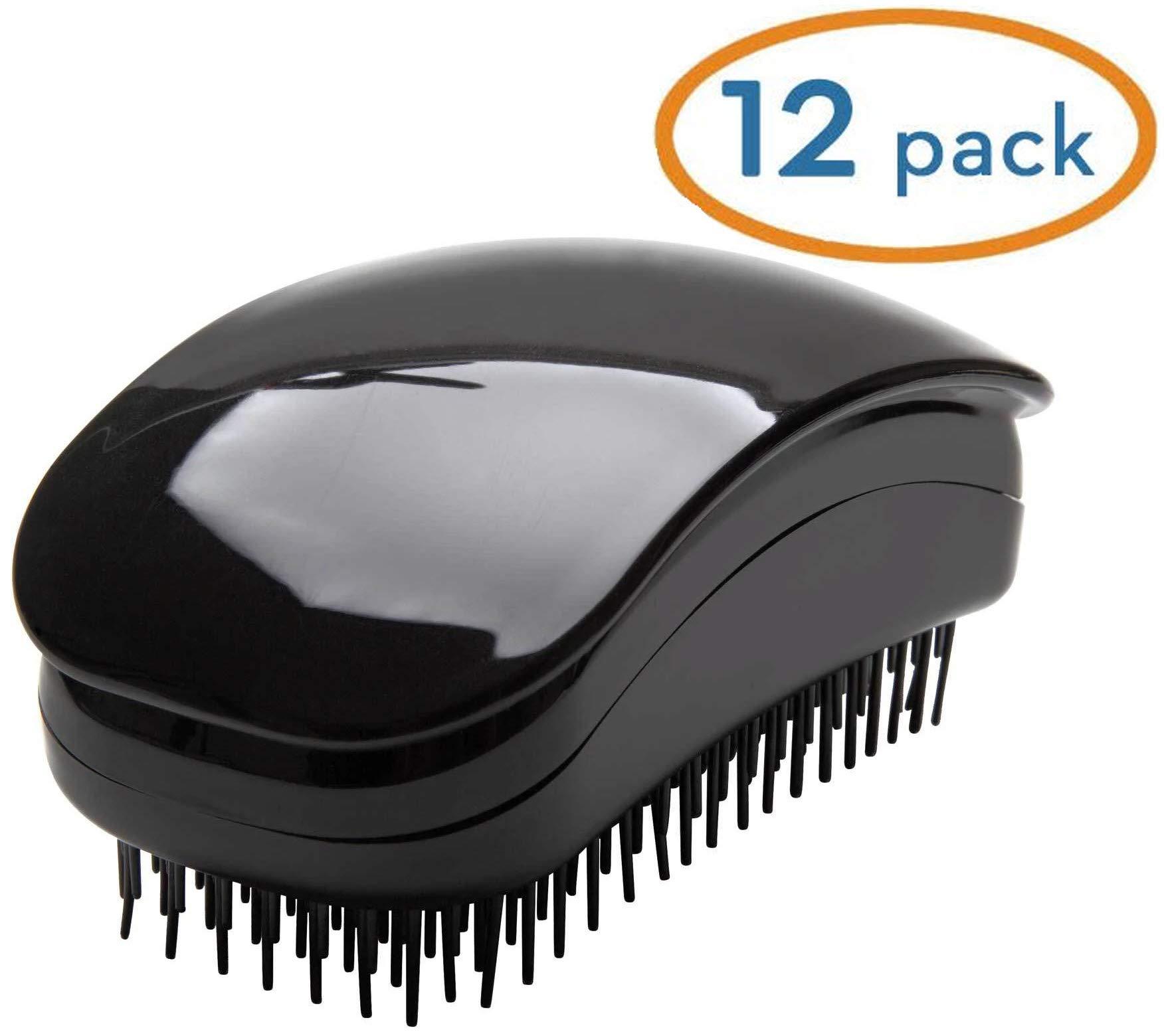 Hair Tamer Black''Kink'' Detangling Hair Brush, 12 Pack by Hair Tamer