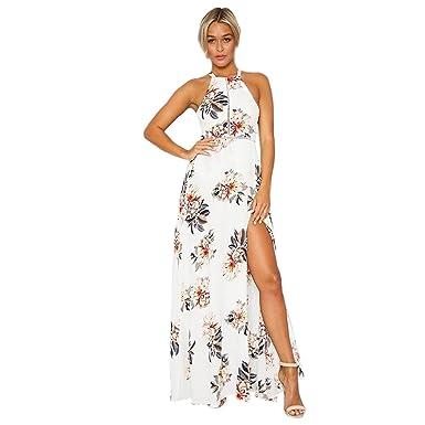 7fb36e08d55f0 TOOGOO R M Women S New Fashion Summer Floral Print Halter Chiffon ...