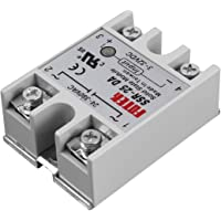 Solid State Relay SSR-25DA 25A Module 3-32V to 24-380V AC SSR 25DA Relay Solid State Plastic Cover Case