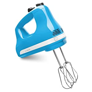 KitchenAid KHM512CL 5-Speed Ultra Power Hand Mixer, Crystal Blue