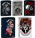 Zippo Sons of Anarchy SAMCRO 5 Lighter Set