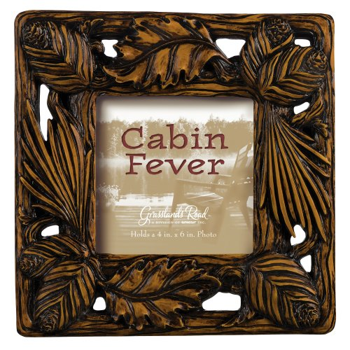 Grasslands Road Cabin Fever Frame, 3 by 3-Inch, Gift Boxed