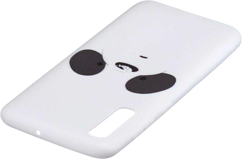 Blanco Silicona Funda Flexible Ultra Fina con Eslinga CoverTpu Funda para Samsung A50 Carcasa para Samsung A50 Anti-Rasgu/ño y Resistente Protectora Tapa Caso Blanco
