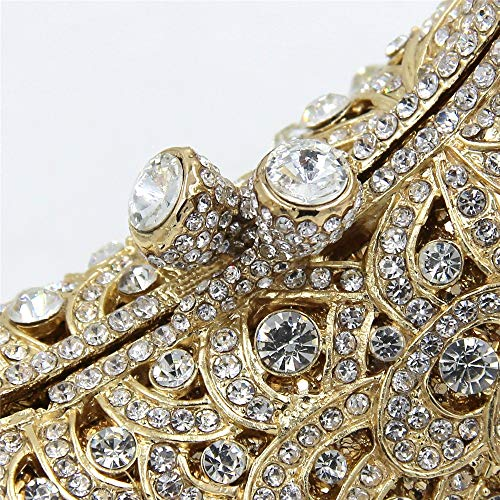 pjaro Lujo Plata Danza Color de Nupcial la Partido del Elegante del Oro del Bolso de Cena totalizador XOXO de Rhinestone Uavqt1T