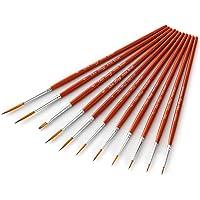 11pcs Draw Paint Brushes Kit Set Artist Paintbrush Nylon Hair Pointed Round Pen Detail Paint Brush for Artist Acrylic…
