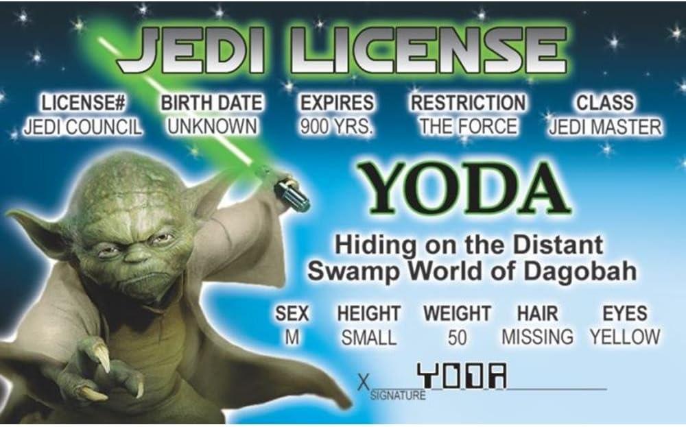 Signs 4 Fun Nswidy Yodas Drivers License