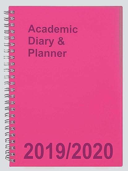 Agenda escolar 2019-2020 A5 Semana a Vista, espiral rosa ...
