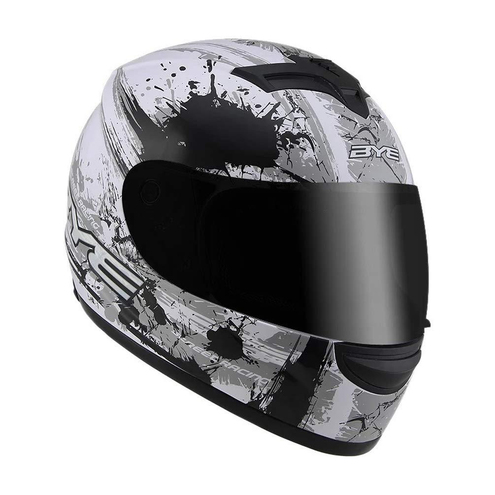 A03 SK-LBB Integral Helme Motorrad helm Elektrische Motorradhelm M/änner und Frauen Pers/önlichkeit coole Lokomotive Integralhelm Integralhelm Laufhelm