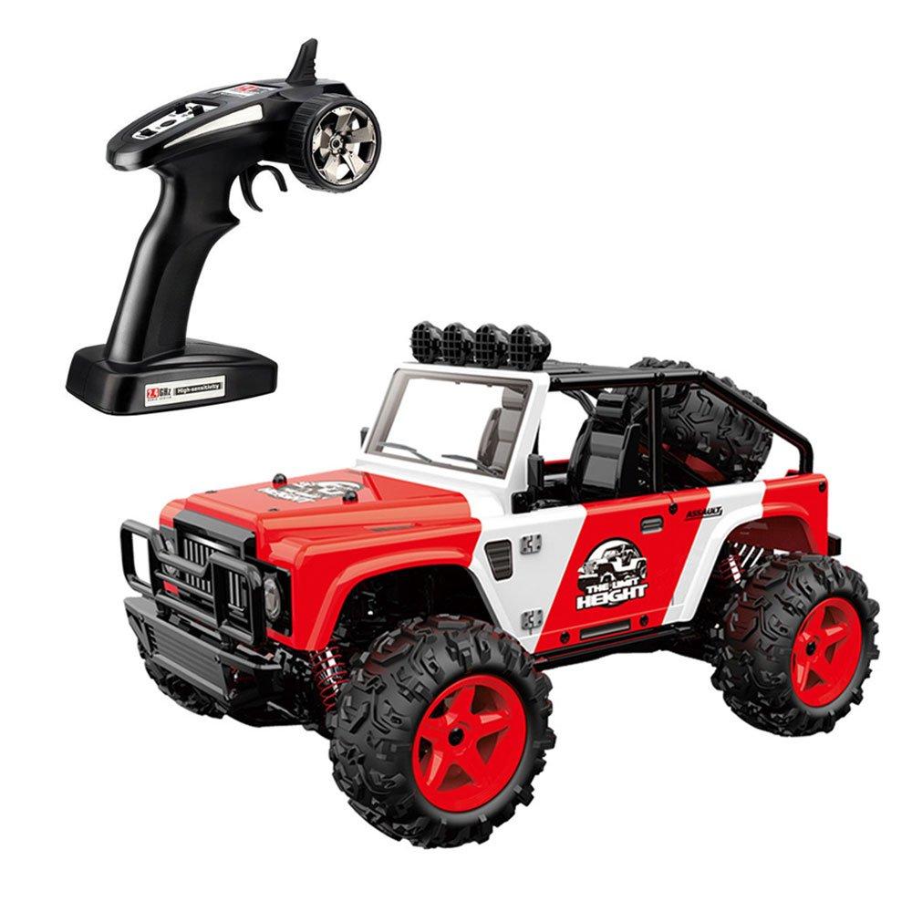 SZJJX RCカー 45km/H+ 高速レーシングリモートコントロール トラック 4WD 2.4Ghz 1/22スケール 無線制御 オフロードRCカー ロッククローラー (レッド) B07C3QXM3J