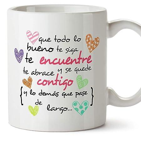 Mugffins Taza Original De Desayuno Para Regalar A Amigas Amigos Y Seres Queridos Que Todo Lo Bueno Te Siga Te Encuentre Y Te Abrace 350 Ml Tazas