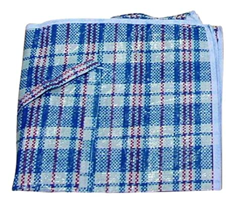 Large Reusable Storage Laundry Shopping Bag Zipped Checked Design ...