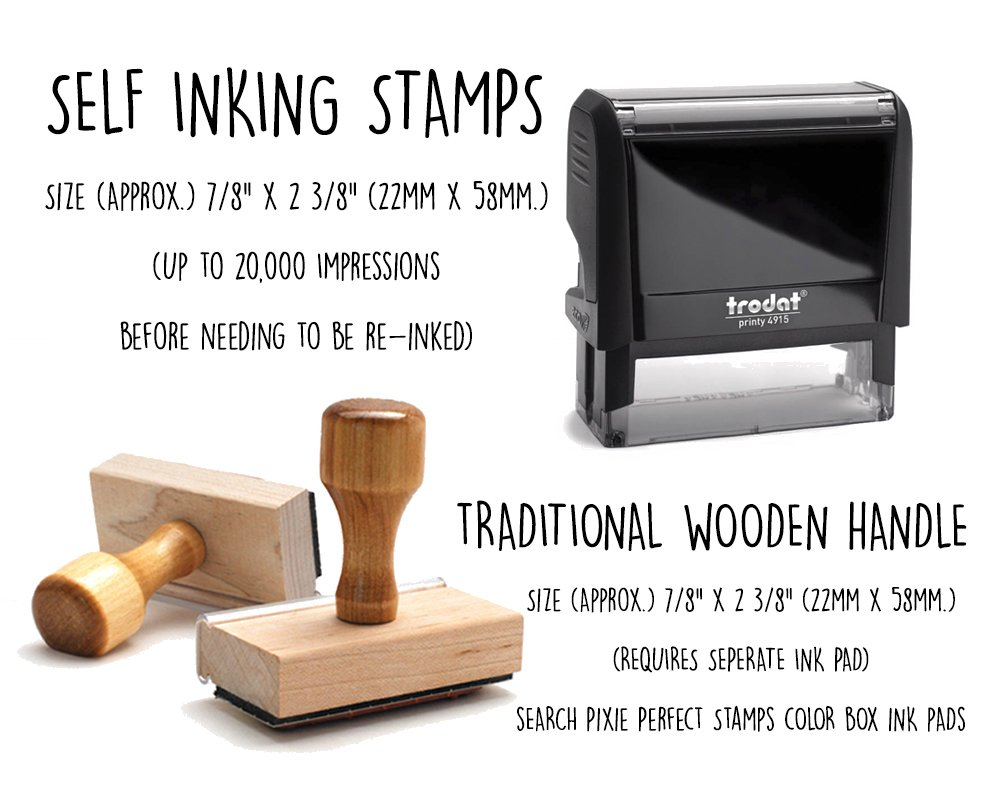 Business Self Inking Stamp Black - Return Address Office Stamper - Custom Personalized Company Address - Large 4 Lines - Professional Company Branding by Pixie Perfect Stamps (Image #3)