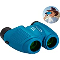 Aurosports Kids Auto Focus Binoculars with High Resolution, Shockproof 8x22 Binoculars Safe for Children, Christmas Birthday Present Best Toy Gifts for Hiking Camping Bird Watching Traveling(Blue)