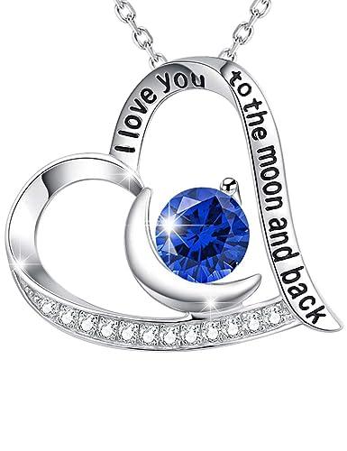 Amazon Com Elda Co Valentine S Day Jewelry Gift Blue Sapphire