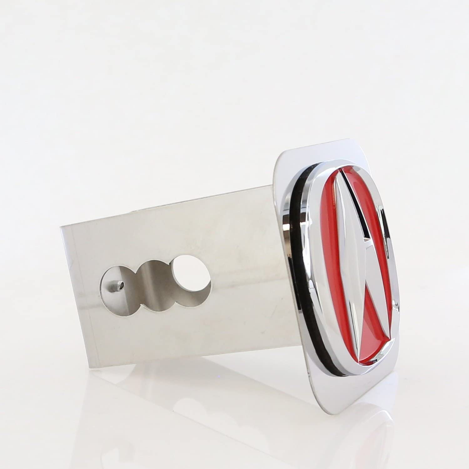 Acura Red Fill Chrome Trailer Hitch Plug