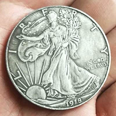 1918 One-Dollar Replica US Coins - American Commemorative Old Coin -Morgan Dollars Hobo Nickel Coin for Dad/Friends/Husband: Toys & Games