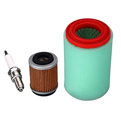 Paddsun Tune Up Kit Air Filter For Yamaha Bear Tracker 250 Big Bear 250 400 Bruin 250: Automotive