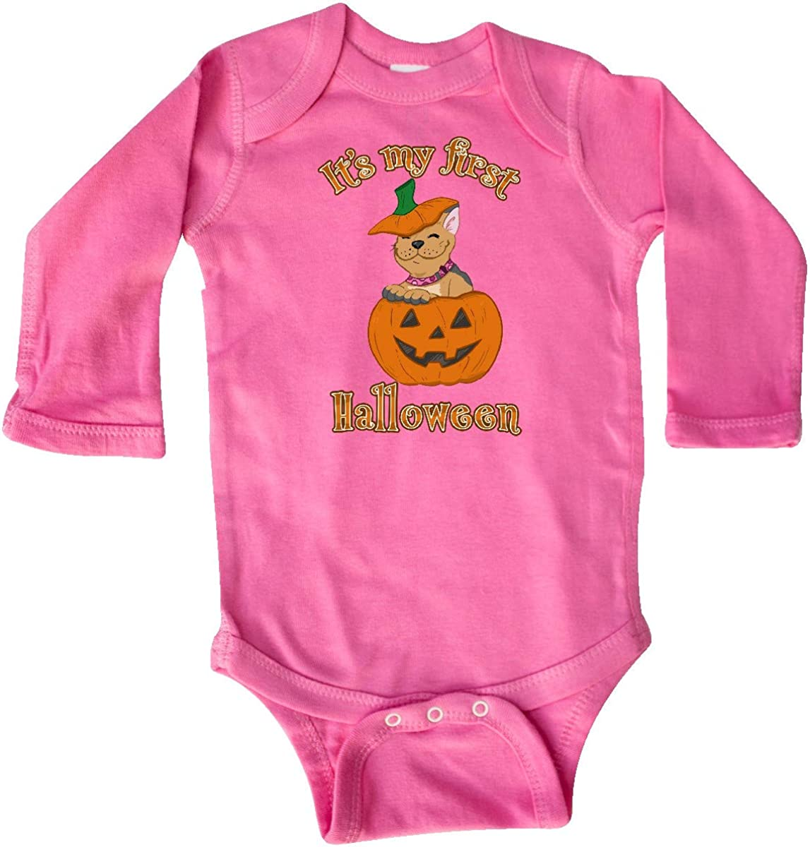 inktastic Its My 1st Halloween Cute Frenchie Puppy Long Sleeve Creeper