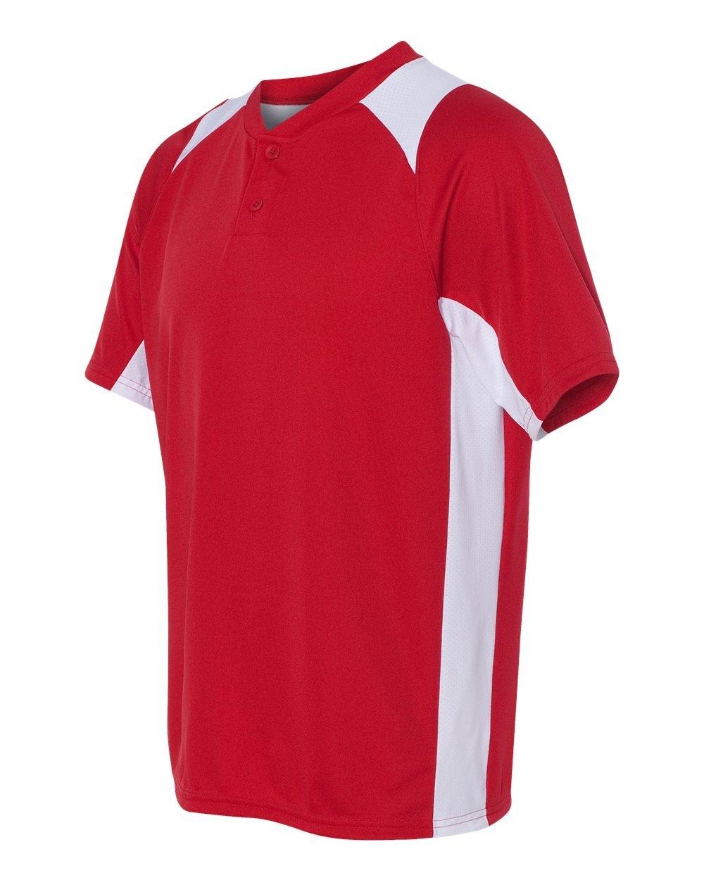 Augusta SportswearメンズGamer野球ジャージー B00DOFQRIC Medium|レッド/ホワイト レッド/ホワイト Medium