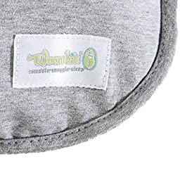 Woombie Original One-Step Baby Swaddle – Easy To Use Natural Approach to Swaddling – Stretchy But Snug Breathable Fabric – Twilight (Heathered Gray) –  Newborn 5-13 lbs