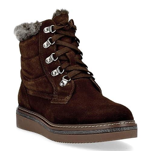 Carmela Shoes 66415 Botines de Mujer - 41, Serraje Cuero: Amazon.es: Zapatos y complementos