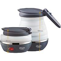 Adler AD1279 Hervidor de Agua Eléctrico Plegable, 0,6L, 750W, Libre de BPA, 750 W, 0.6 litros, Silicona