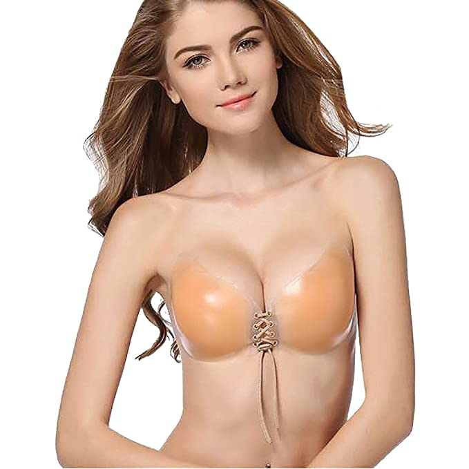 Damark(TM)) Mujeres Silicone Invisible Sujetador Adhesivo Push UP Bra sin Tirantes Reutilizable