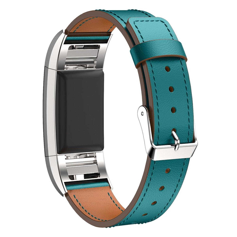 交換用本革バンドFitbit Charge 2 by d.b.ムード、ブルーブラウンロイヤルブルーブラックブルー B01NCEQS63