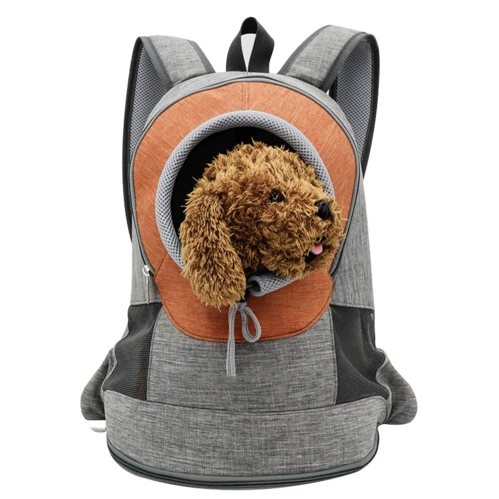 orange Small orange Small Pet Carrier,Breathable Double Shoulder Pet Puppy Bags Backpack Cat Carrier Travelling Pet Holder Bag for Biking, Hiking, Trip, Shopping