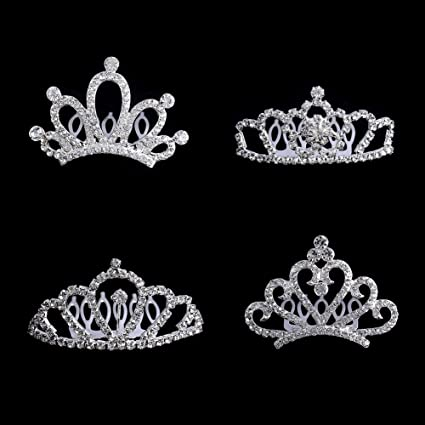 amazon com bingcute 12pcs girl princess rhinestone tiara crown with