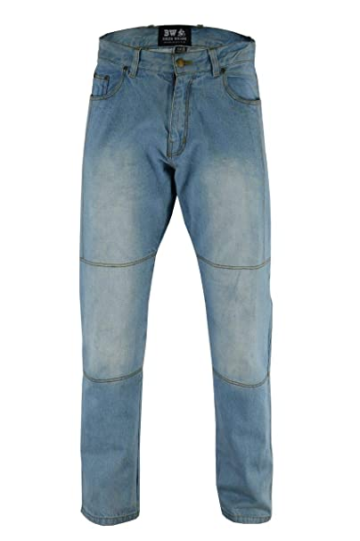 c2310283a2 Biker Wear Hombre Motocicleta Pantalones Moto Jeans con Protección Aramida  Motorcycle Biker Pants  Amazon.es  Ropa y accesorios