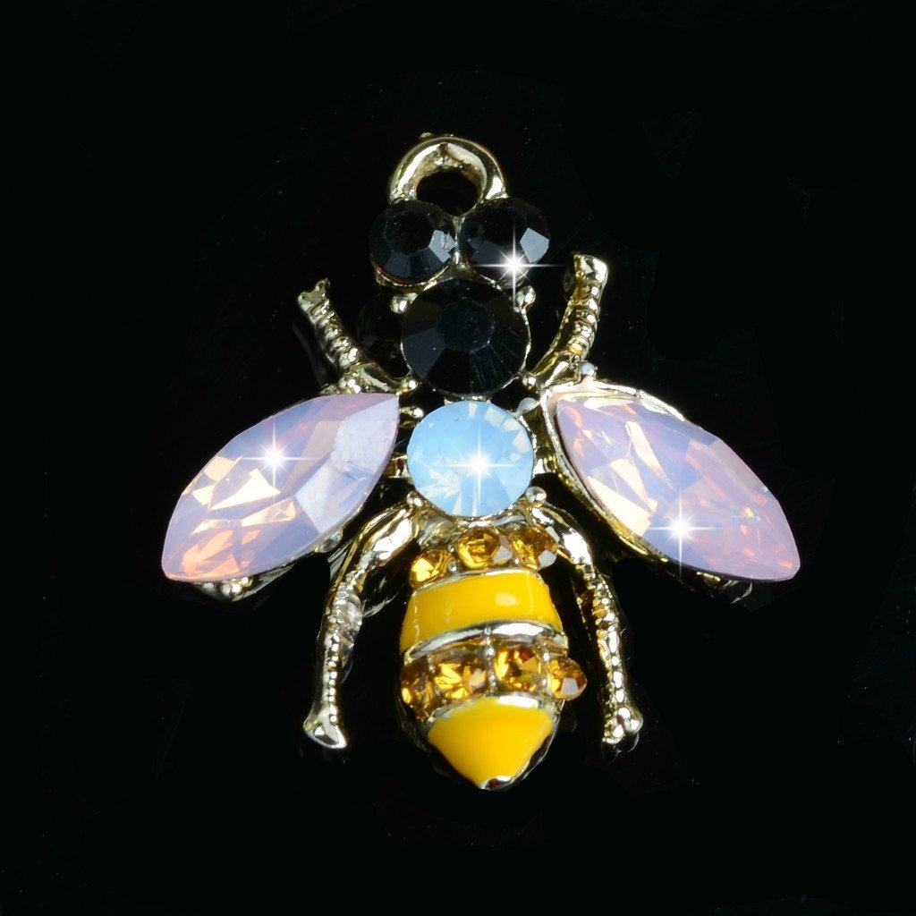 5er Pack Bienen Kristall Schmuck Anhänger Charms Schmuckanhänger für