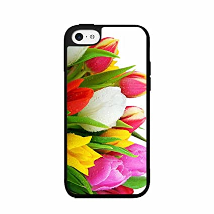 sale retailer 3a7e1 52865 Amazon.com: BleuReign(TM) Raindrops on Tulips - TPU Rubber Silicone ...