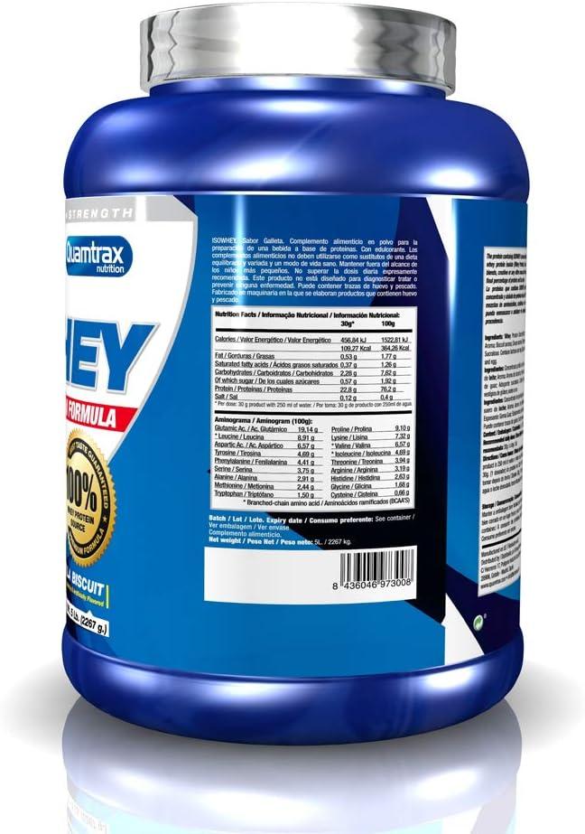 Quamtrax Nutrition Isowhey, Sabor Galleta de Vainilla - 2270 gr ...