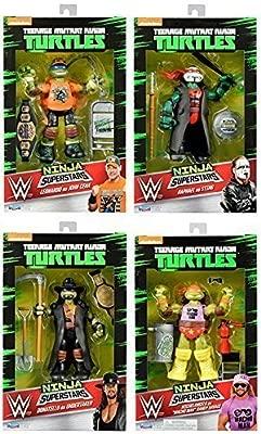 Los 4 Conjunto Completo De Tortugas Ninja como WWE ...