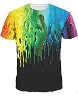 sankill Summer Casual T Shirt Galaxy Space Creative 3D Printed Graphic Men Women Unisex Couple Tees Top Short Sleeve