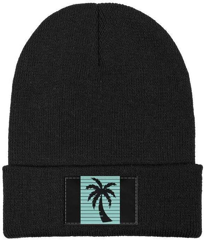 FYFYOK Mens Slouchy Beanie Hat Toboggan Hats Palm Tree Shadow California Mellow Ski Cap