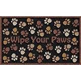 Apache Mills 60-925-0894-18x30 CleanScrape Deluxe Wipe Your Paws Door Mat, Brown, 18-Inch by 30-Inch
