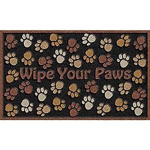 CleanScrape Deluxe Wipe Your Paws Door Mat, Brown, 18-Inch by 30-Inch
