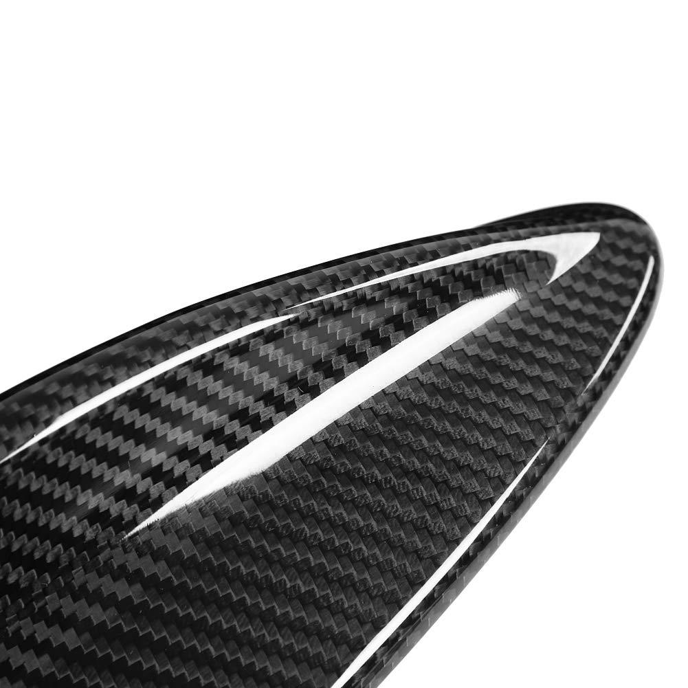Qii lu Car Antenna Shark Fin Cover Trim stile fibra di carbonio per 3 serie M3 E46 E90 E60 E61