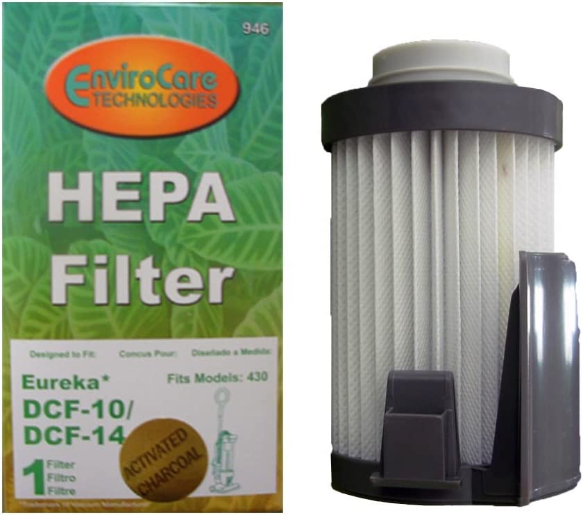 EnviroCare 1 Eureka Style DCF 14 DCF 10 Lightweight Upright Vacuum Cleaner Pleated HEPA Dust Cup Filter