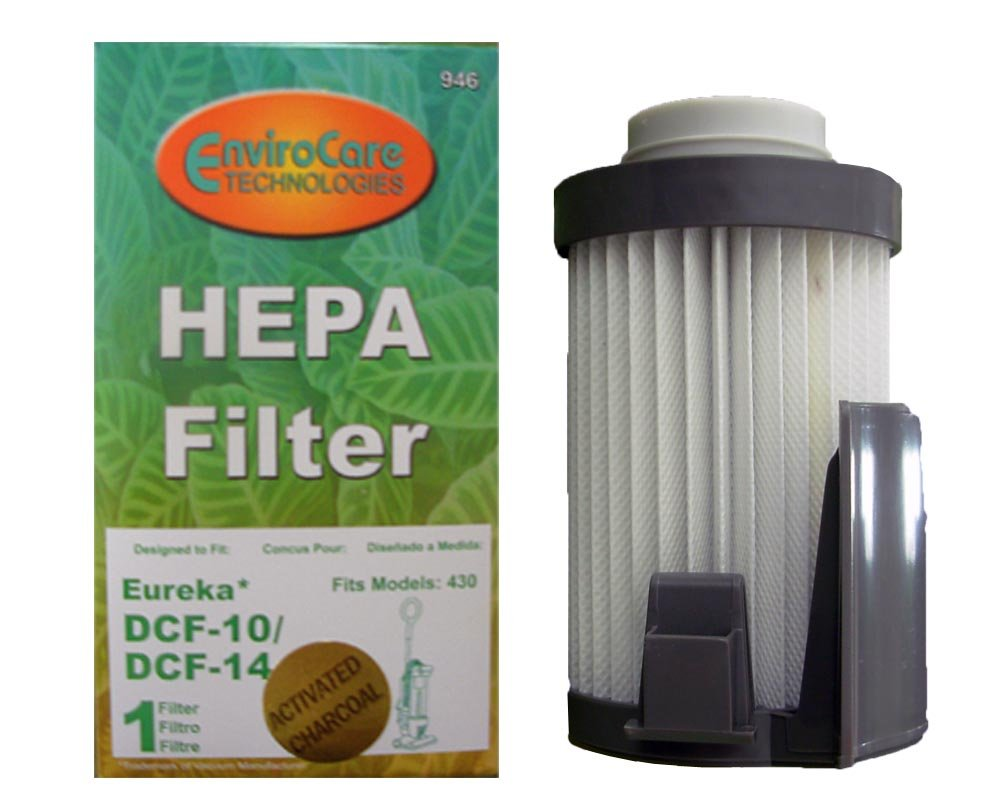 1 Eureka Style DCF 14 DCF 10 Lightweight Upright Vacuum Cleaner Pleated HEPA Dust Cup Filter EnviroCare