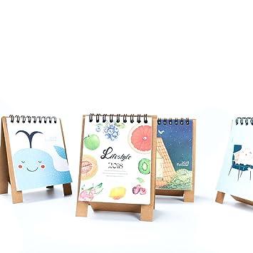 Amazon Com Zyn Monthly Desk Pad Calendar Cute Image Stand Up Diy