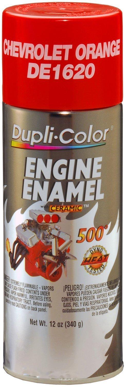 Dupli-Color DE1620 Chevrolet Orange Engine Enamel with Ceramic 12 oz. Aerosol (6 PACK)