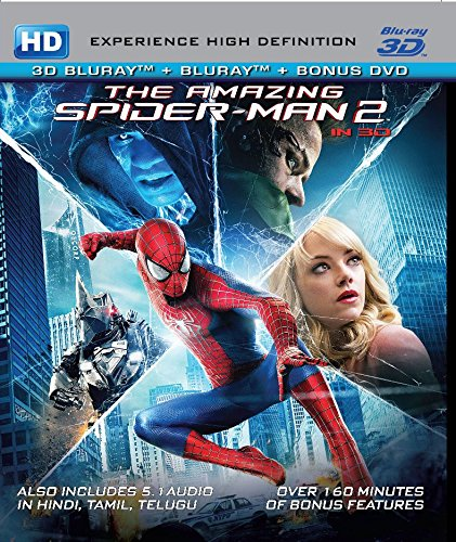 Amazing Spider-Man 2 [BLU RAY 3D + BLU RAY + DVD) 3 DISC SET