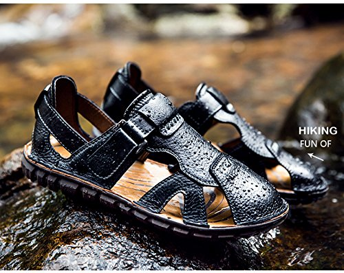 Sandal Leather Lazy Shoes Bionic Beach TM Layer Tape Outdoor Platypus Black Mens Happyshop Top Toe qwvRTIw8