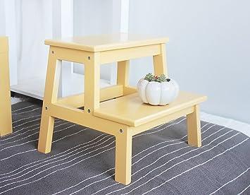 Sgabello da bagno in legno massello sgabello in legno con 2 sgabelli