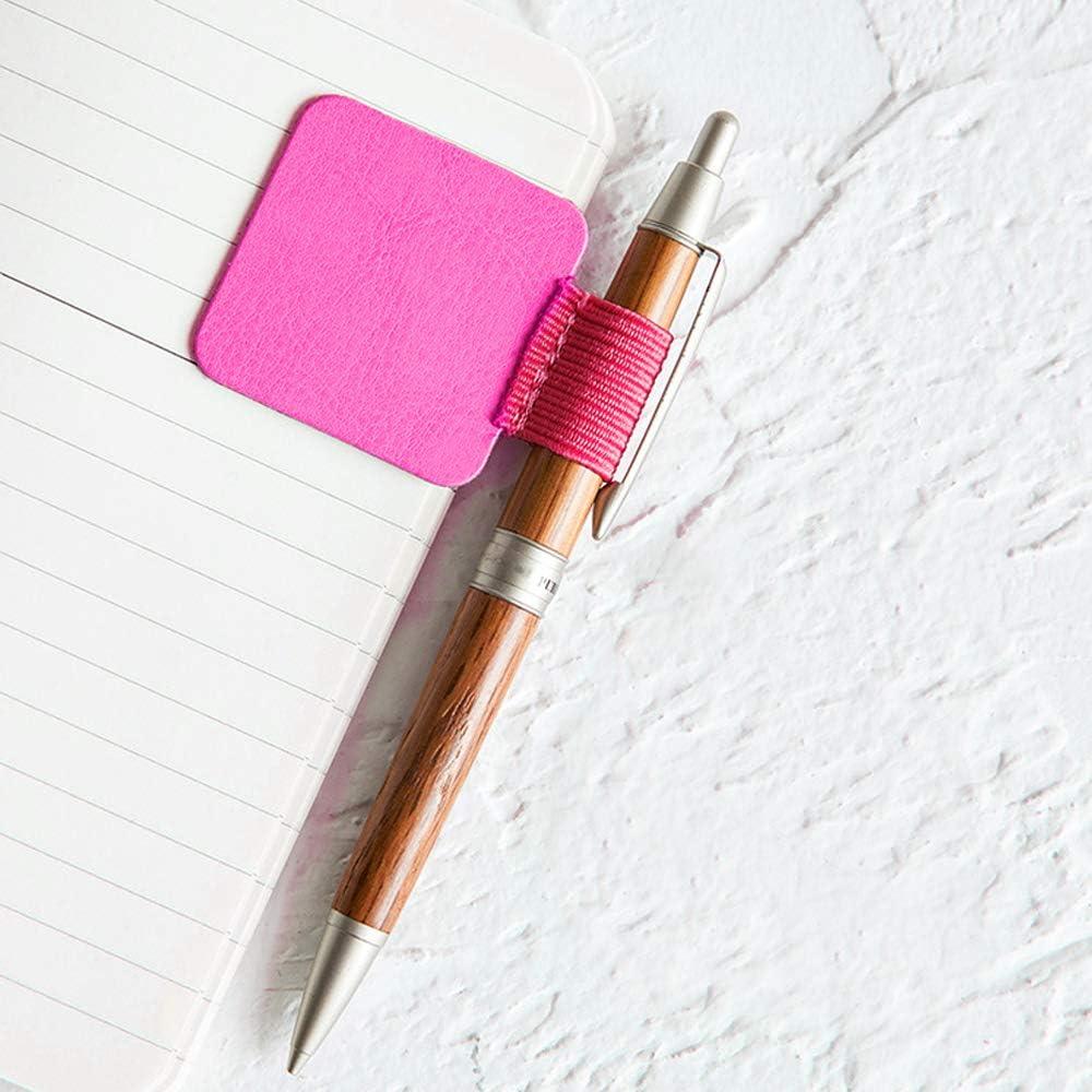 LumenTY 12 St/ück Selbstklebend Stiftschlaufe Stifthalter Selbstklebend Elastische Stiftschlaufe kalender stifthalter f/ür Notizb/ücher//Tagebuch//Planer und Kalender