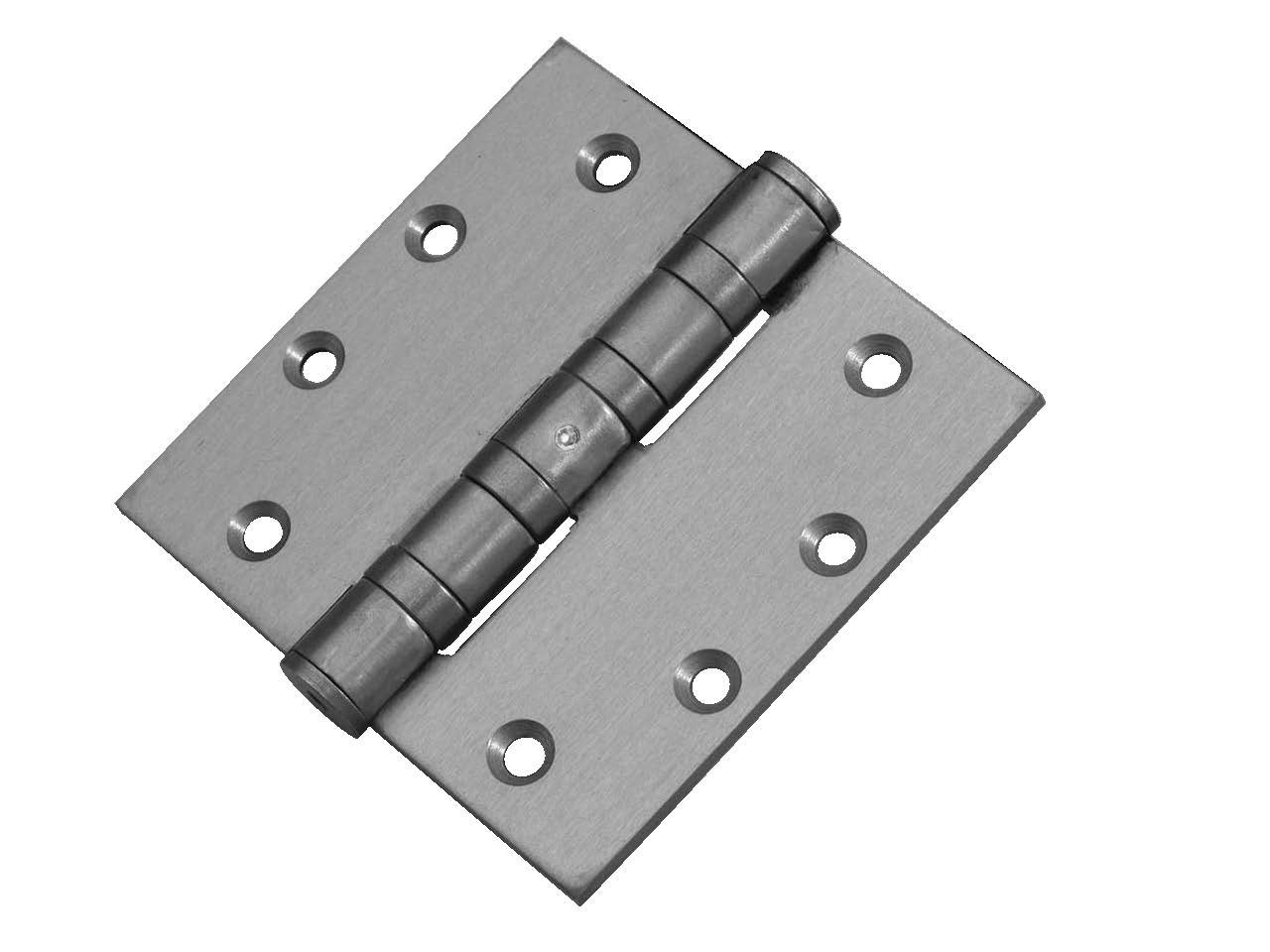 Don-Jo HWBB94545 0.180 Gauge Stainless Steel Full Mortise Ball Bearing Template Hinges with Non-Removable Pin, Satin Stainless Steel Finish, 4-1/2'' Width x 4-1/2'' Height (Pack of 24)